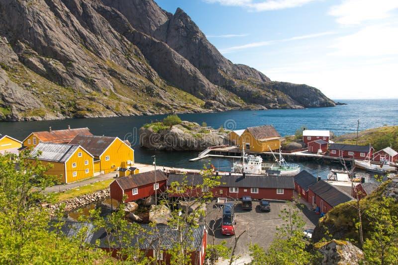 Ψαροχώρι σε Lofoten - Νορβηγία στοκ εικόνες με δικαίωμα ελεύθερης χρήσης