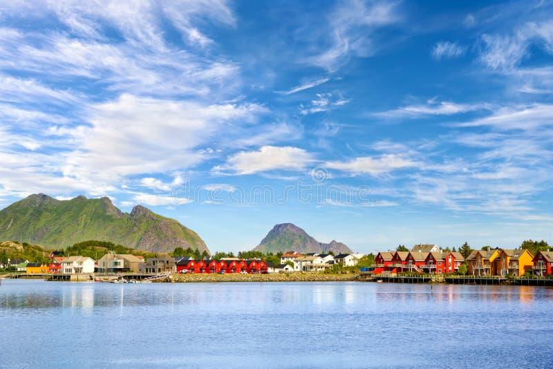 Ψαροχώρι σε Lofoten στοκ φωτογραφίες