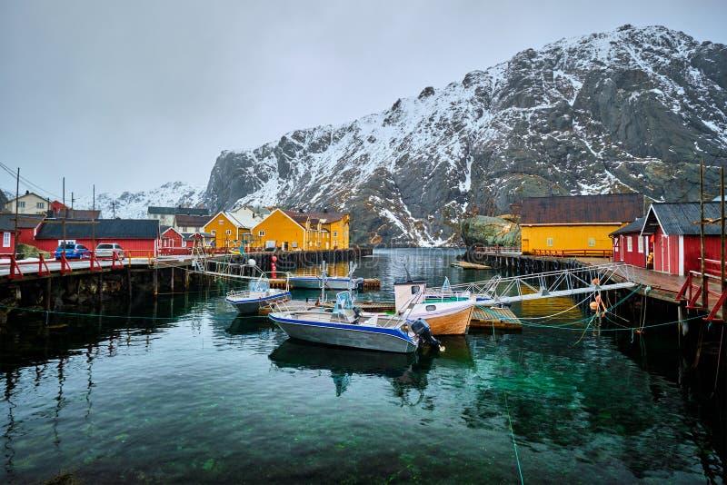 Ψαροχώρι Nusfjord στη Νορβηγία στοκ φωτογραφίες