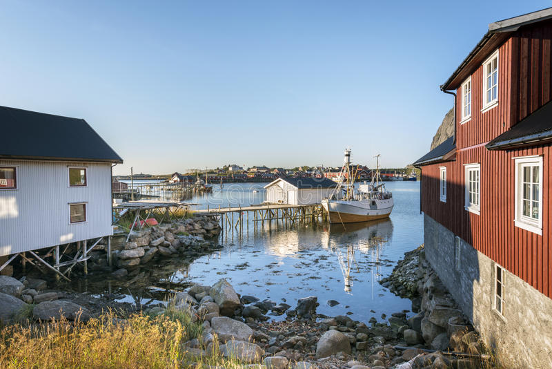 Ψαροχώρι Reine στα νησιά Lofoten στοκ φωτογραφία με δικαίωμα ελεύθερης χρήσης