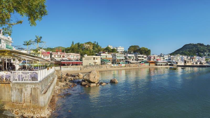 Ψαροχώρι Sok Kwu ωχρό στο νησί Lamma, Χονγκ Κονγκ στοκ εικόνες με δικαίωμα ελεύθερης χρήσης