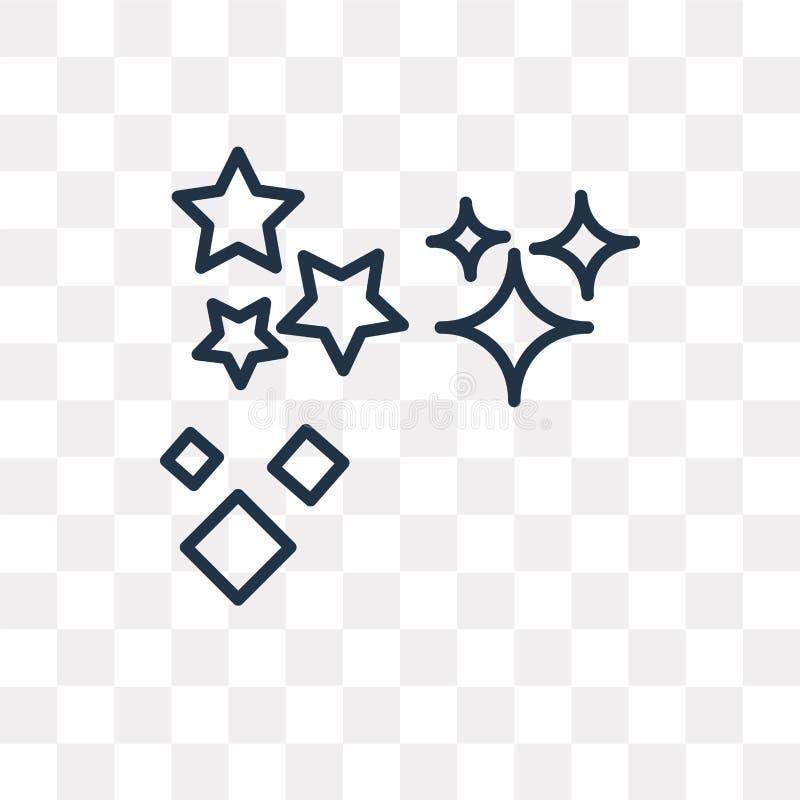 Ψεκάστε το διανυσματικό εικονίδιο αστεριών που απομονώνεται στο διαφανές υπόβαθρο, λ απεικόνιση αποθεμάτων