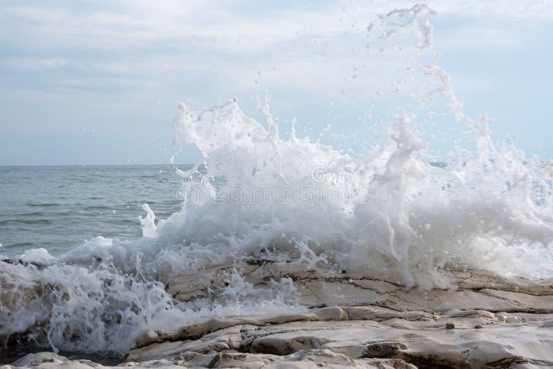 Ψεκασμός θάλασσας στοκ φωτογραφία