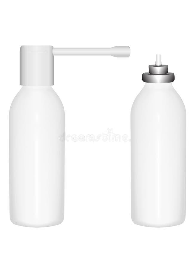 ψεκασμός μπουκαλιών διανυσματική απεικόνιση