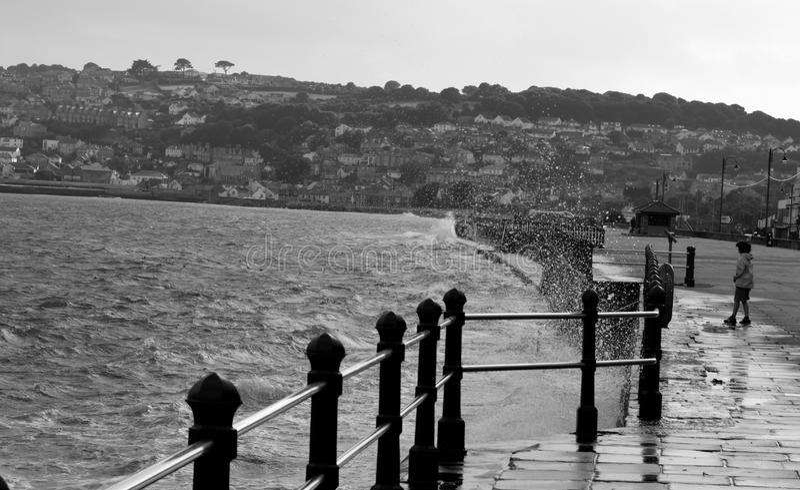 Ψεκασμός Penzance θάλασσας στοκ εικόνες