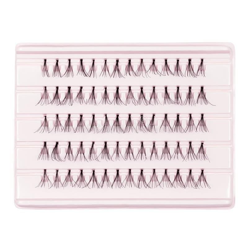 Ψεύτικα eyelashes, μαύρα ψεύτικα eyelashes, που απομονώνονται στο άσπρο backgr στοκ φωτογραφία