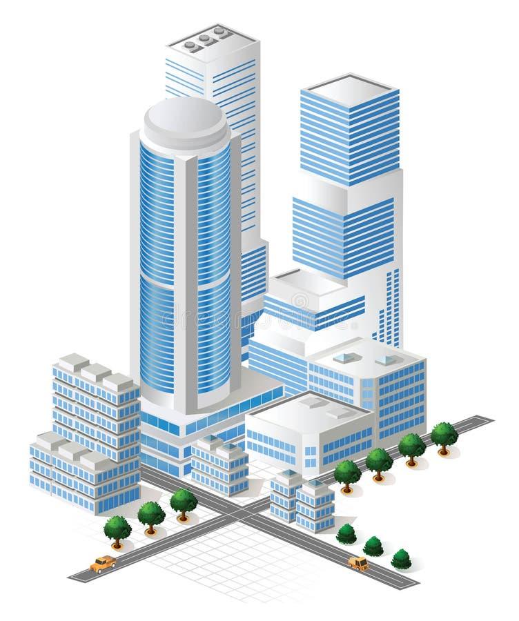 ψηλό διάνυσμα κτηρίων ελεύθερη απεικόνιση δικαιώματος