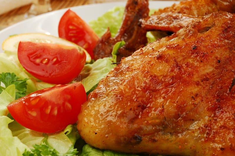 ψημένα κοτόπουλο φτερά στοκ εικόνα με δικαίωμα ελεύθερης χρήσης