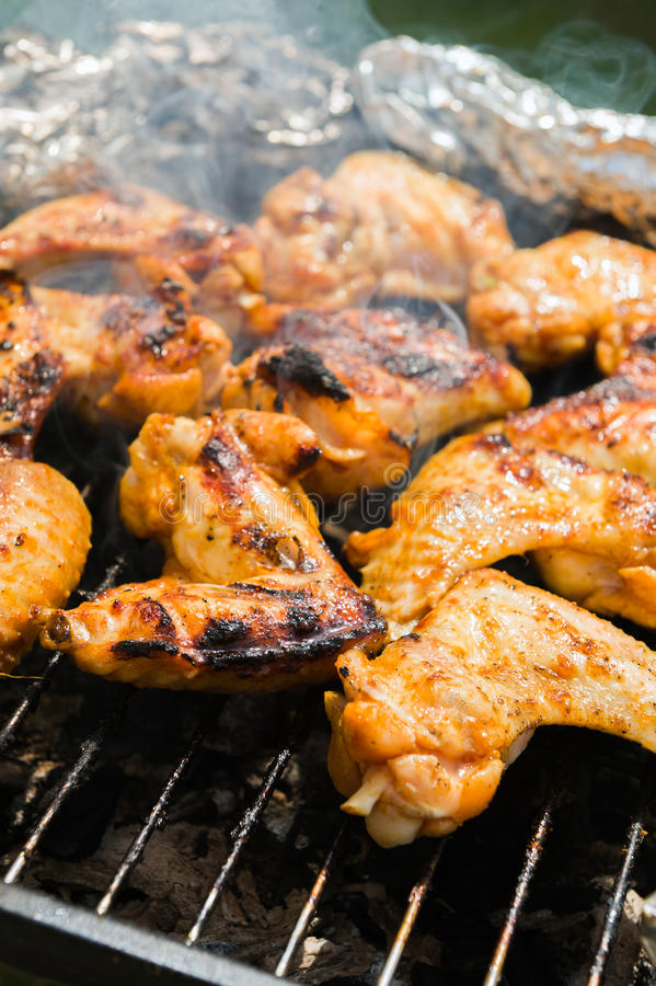 ψημένα κοτόπουλο φτερά στοκ φωτογραφία με δικαίωμα ελεύθερης χρήσης