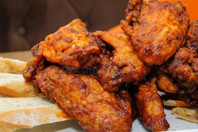 ψημένα κοτόπουλο φτερά στοκ φωτογραφία