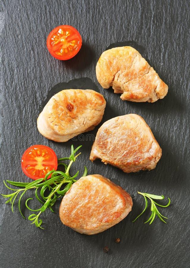 Ψημένα μενταγιόν χοιρινού κρέατος στοκ φωτογραφία με δικαίωμα ελεύθερης χρήσης