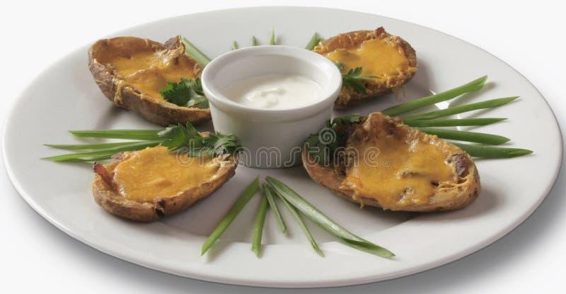 ψημένα μύδια τυριών στοκ εικόνες