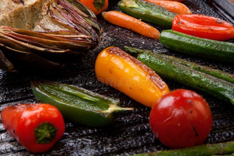 ψημένα στη σχάρα λαχανικά στοκ εικόνες