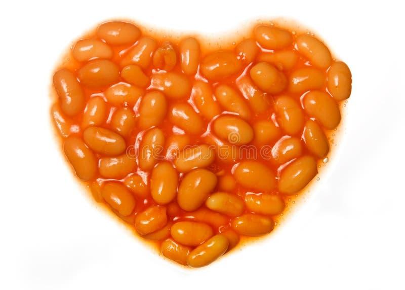 ψημένα φασόλια ι αγάπη στοκ εικόνες με δικαίωμα ελεύθερης χρήσης
