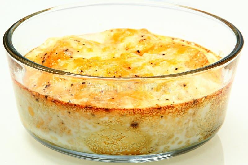 Ψημένα φούρνος αυγά με το λειωμένα τυρί και το πιπέρι στοκ εικόνες