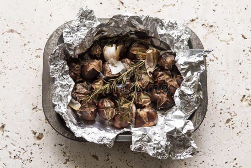 Ψημένα φούρνος κάστανα στοκ φωτογραφία με δικαίωμα ελεύθερης χρήσης