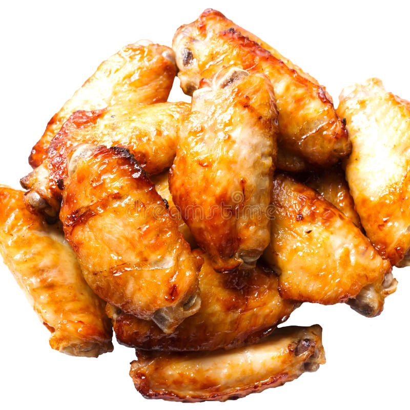 Ψημένα φτερά κοτόπουλου βούβαλων στοκ φωτογραφίες με δικαίωμα ελεύθερης χρήσης