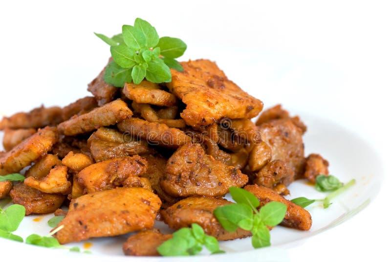 ψημένες χοιρινό κρέας φέτε&sigmaf στοκ εικόνα