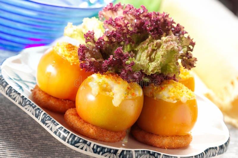 ψημένη ντομάτα στοκ εικόνες