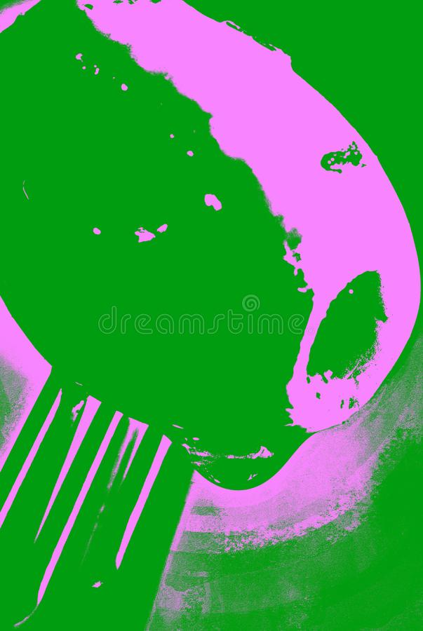 Ψημένη στη σχάρα ελιά στο δίκρανο απεικόνιση αποθεμάτων
