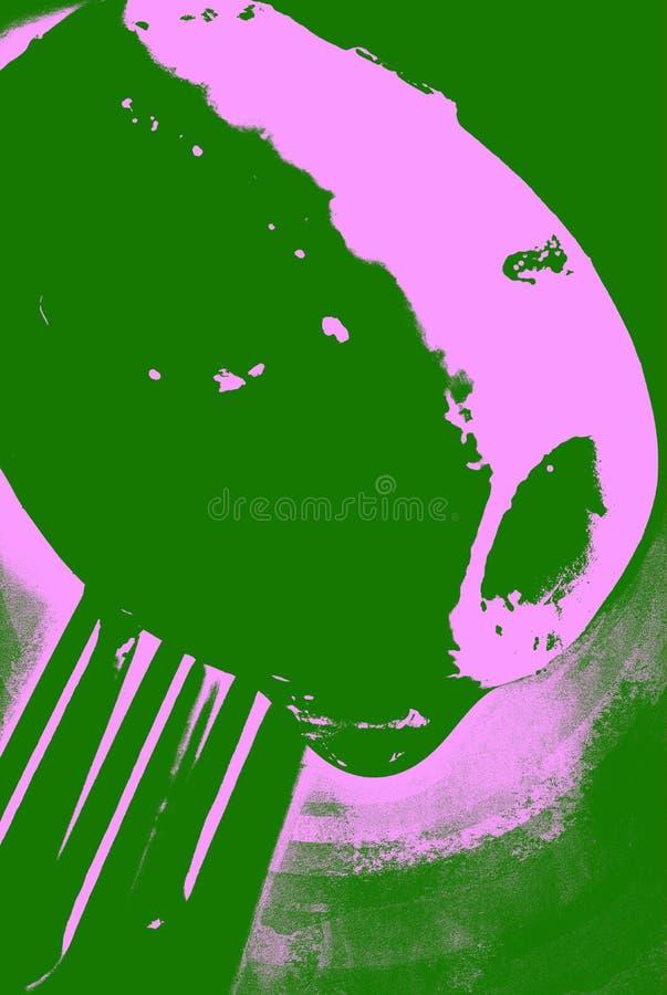 Ψημένη στη σχάρα ελιά στο δίκρανο διανυσματική απεικόνιση