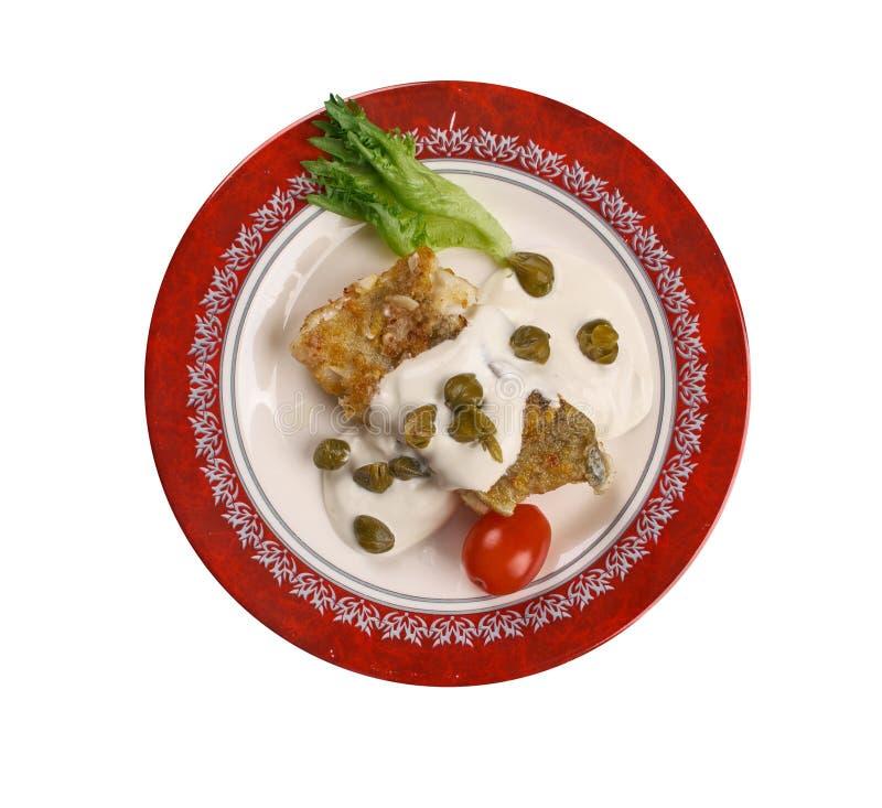 Ψημένος βακαλάος Piccata στοκ εικόνες με δικαίωμα ελεύθερης χρήσης