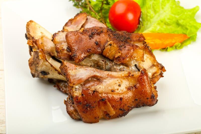 Ψημένο γόνατο χοιρινού κρέατος στοκ φωτογραφία