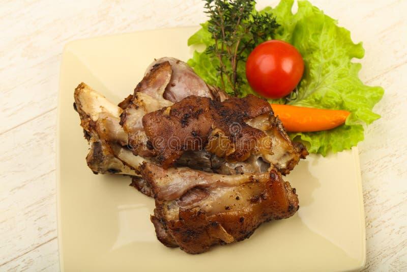 Ψημένο γόνατο χοιρινού κρέατος στοκ εικόνα με δικαίωμα ελεύθερης χρήσης