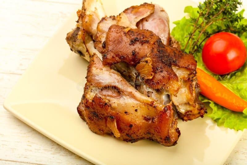 Ψημένο γόνατο χοιρινού κρέατος στοκ φωτογραφίες