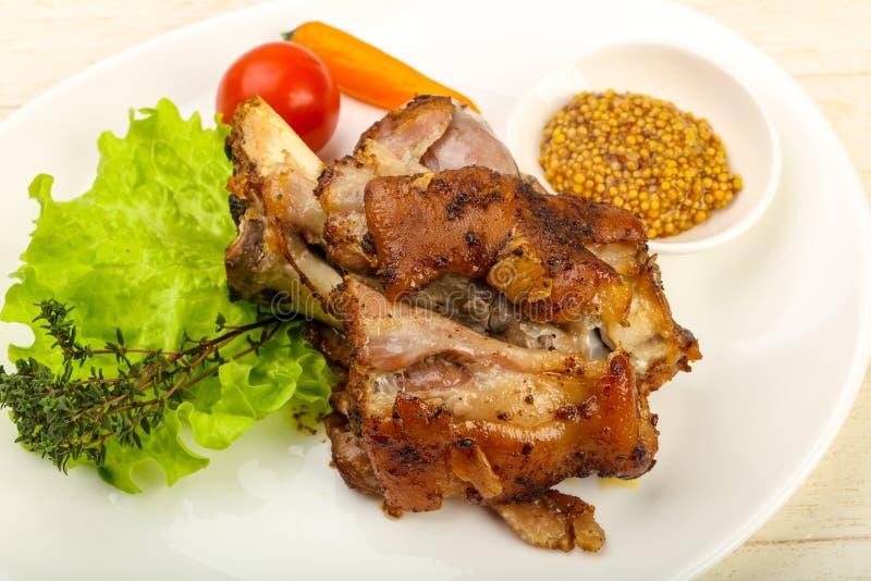Ψημένο γόνατο χοιρινού κρέατος στοκ εικόνα