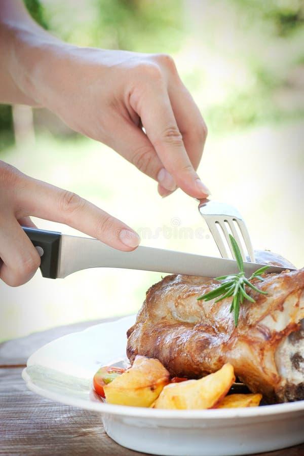 Ψημένο και ψημένο μοσχαρίσιο κρέας στοκ φωτογραφία με δικαίωμα ελεύθερης χρήσης