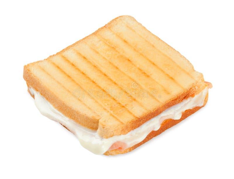 Ψημένο σάντουιτς με το ζαμπόν και το τυρί στοκ φωτογραφία