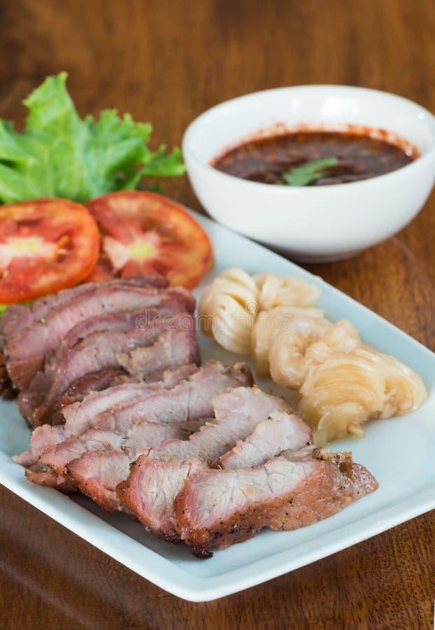 ψημένο στη σχάρα χοιρινό κρέας λαιμών στοκ εικόνες με δικαίωμα ελεύθερης χρήσης