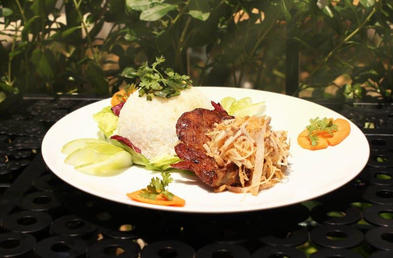 Ψημένο στη σχάρα χοιρινό κρέας με το σπασμένο ρύζι (CÆ ¡ μ tấm sÆ°á»  ν) στοκ εικόνα με δικαίωμα ελεύθερης χρήσης