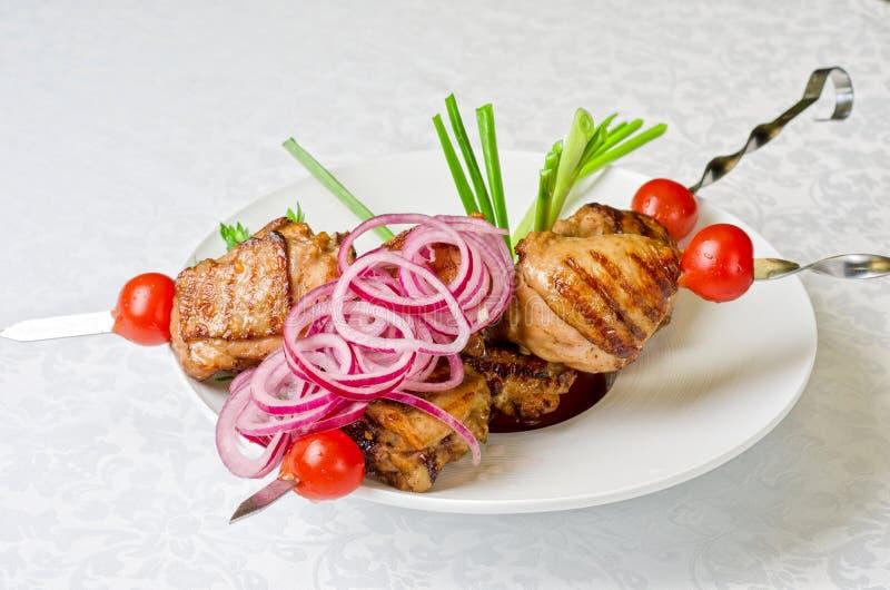 Ψημένο στη σχάρα kebab κρέας στοκ εικόνες με δικαίωμα ελεύθερης χρήσης