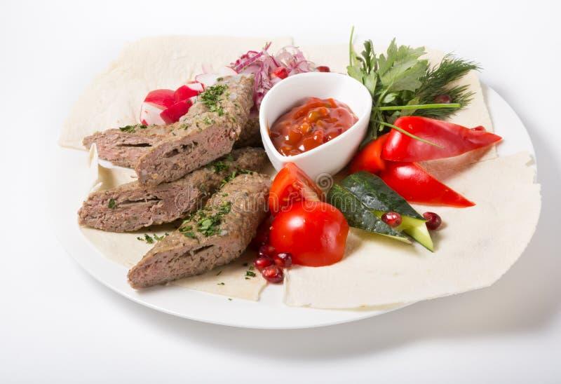 Ψημένο στη σχάρα kebab κρέας στοκ φωτογραφίες με δικαίωμα ελεύθερης χρήσης