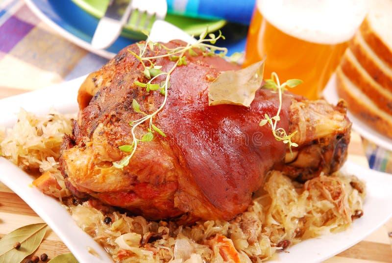 ψημένο χοιρινό κρέας αρθρώσ&ep στοκ φωτογραφίες