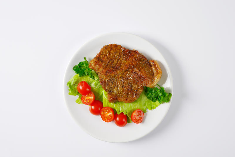 Ψημένο χοιρινό κρέας με τα vegetebles στοκ φωτογραφίες με δικαίωμα ελεύθερης χρήσης