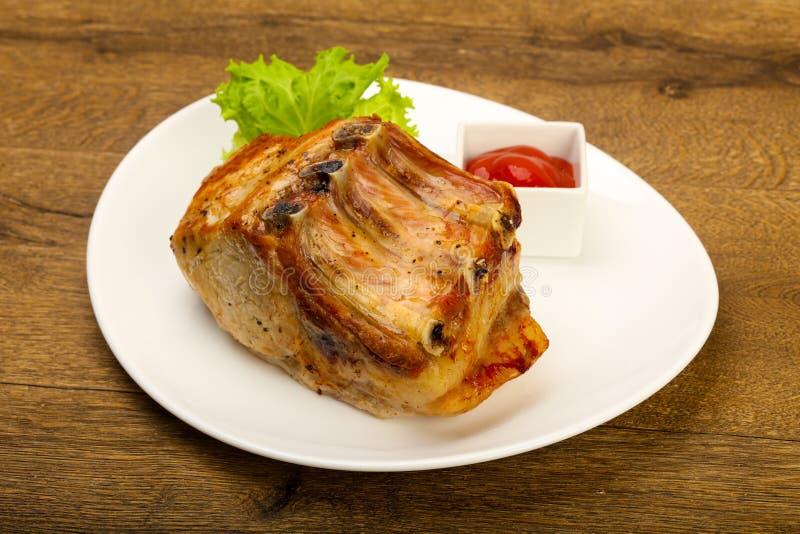 Ψημένο χοιρινό κρέας στοκ φωτογραφία