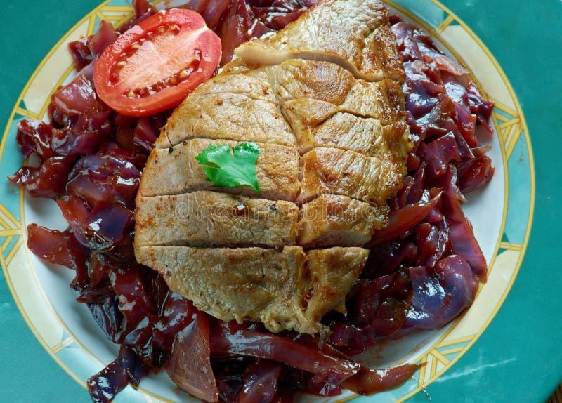 Ψητό δοχείων του χοιρινού κρέατος στοκ φωτογραφία με δικαίωμα ελεύθερης χρήσης