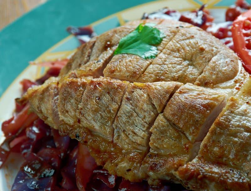 Ψητό δοχείων του χοιρινού κρέατος στοκ φωτογραφίες