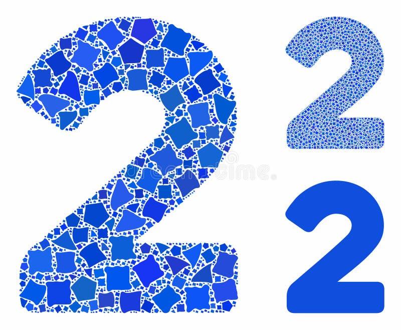 2 ψηφία Εικονίδιο Σύνθεσης Άνισων Τμημάτων ελεύθερη απεικόνιση δικαιώματος