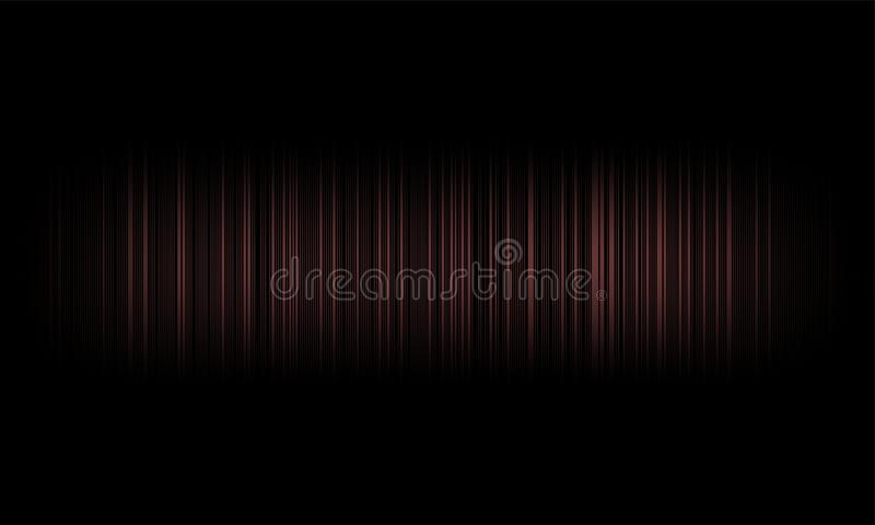 Ψηφιακά ακουστικά υγιή κύματα εξισωτών στο μαύρο υπόβαθρο, στερεοφωνικό υγιές σήμα επίδρασης ελεύθερη απεικόνιση δικαιώματος