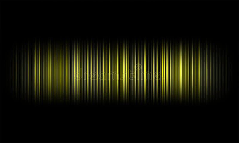 Ψηφιακά ακουστικά υγιή κύματα εξισωτών στο μαύρο υπόβαθρο, στερεοφωνικό υγιές σήμα επίδρασης απεικόνιση αποθεμάτων