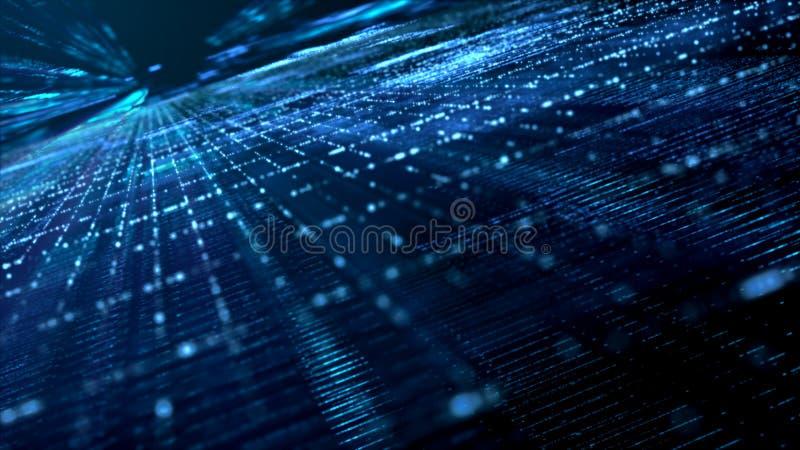 Ψηφιακά διαστημικά μόρια Cyber διανυσματική απεικόνιση