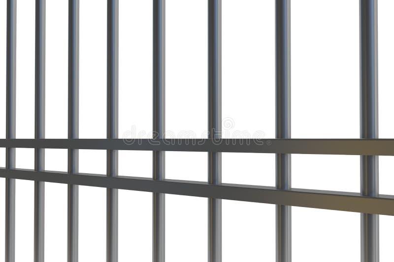 Ψηφιακά παραγμένοι φραγμοί φυλακών μετάλλων διανυσματική απεικόνιση