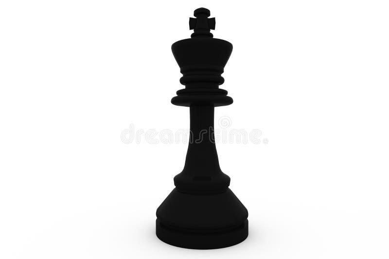 Ψηφιακά παραγμένος μαύρος βασιλιάς που στέκεται μόνο διανυσματική απεικόνιση