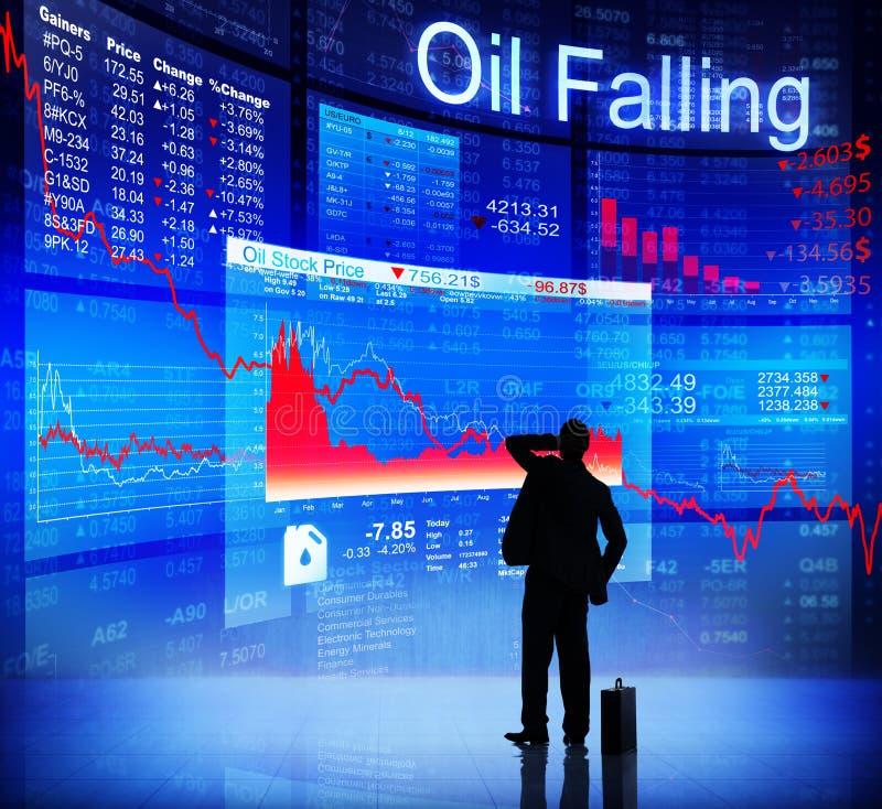 Ψηφιακά παραγμένος της μειωμένης έννοιας πετρελαίου απεικόνιση αποθεμάτων