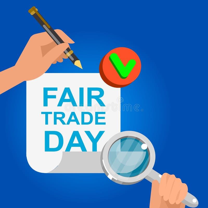 Ψηφιακά παραγμένο διάνυσμα τίμιου εμπορίου διανυσματική απεικόνιση