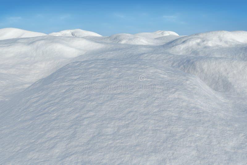 Ψηφιακά παραγμένο χιονώδες έδαφος scape διανυσματική απεικόνιση